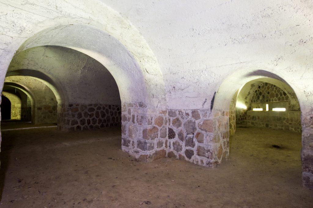 Intérieur de la caponnière du fort de Feyzin