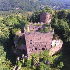 Mettre en sécurité l'impressionnant donjon du Château de Rathsamhausen à Ottrott