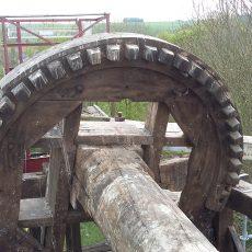Restauration et remise en fonction du moulin à vent sur pivot Stavèle