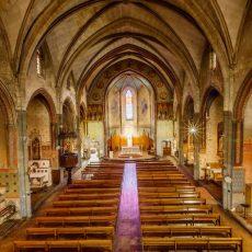 L'église des Carmes de Carcassonne, mélange de gothique méridional et de décor du XIXème siècle